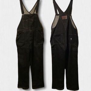 Nautica Jeans Dark Blue Overalls Coveralls Large